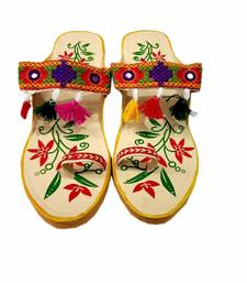 Multicolor synthetic footwear for women