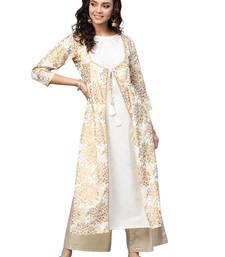 Off White women's Straight Cotton Kurta