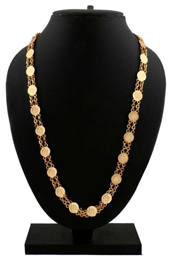 Buy Traditional 22k Lakshmi Ginni Coin Necklace Mala Chain