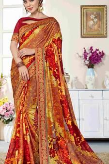 d87864e609 Progress 4cc28d84d76fcb9210fe43f7ac15eb975cd0845b972ae4a79b1d0ad72de0bd8e.  Multicolor printed brasso saree with blouse