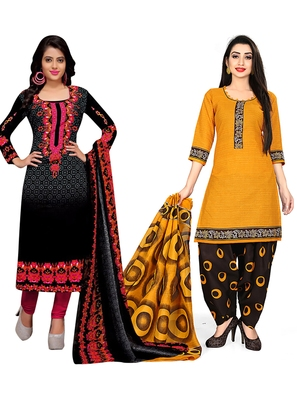 Printed combo cotton salwar with dupatta (set of 2)