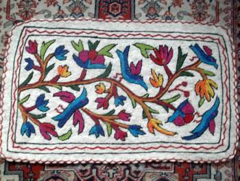 crewal embroidered namdha rug