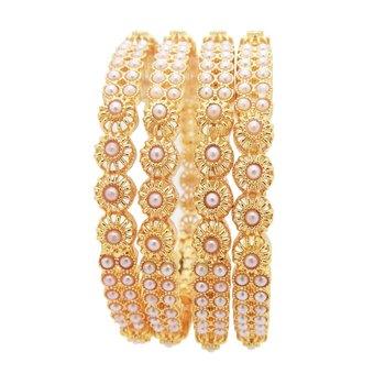 White bangles-and-bracelets