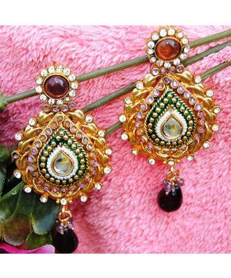 Traditional Polki Dangler Earrings