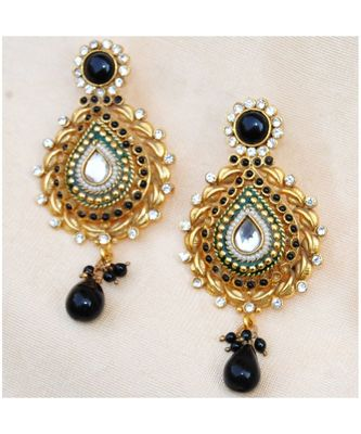 Traditional Polki Dangler Earrings