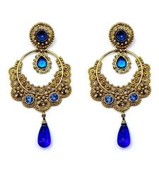 Sapphire Gold Bali Dangler Earrings