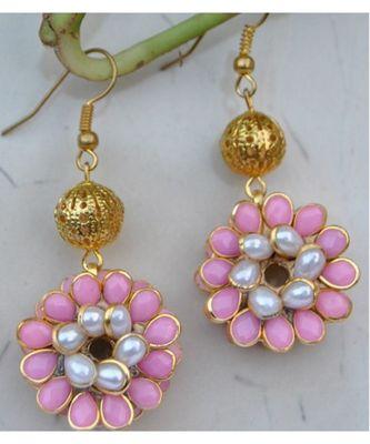 Pink Pacchi Dangler Earrings