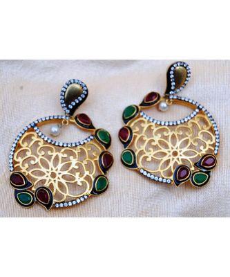 Traditional Gold Dangler Earrings
