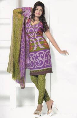 Crepe Dress Material Elegant Designer Unstitched Salwar Suit D.No 7262