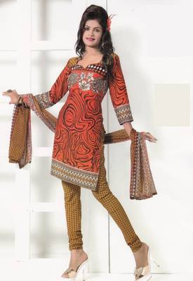 Crepe Dress Material Elegant Designer Unstitched Salwar Suit D.No 7264