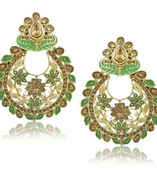 Saizen Floral Gold Plated Studded Drop Earrings Alloy Dangle Earring