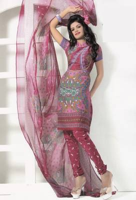 Crepe Dress Material Elegant Designer Unstitched Salwar Suit D.No 7266