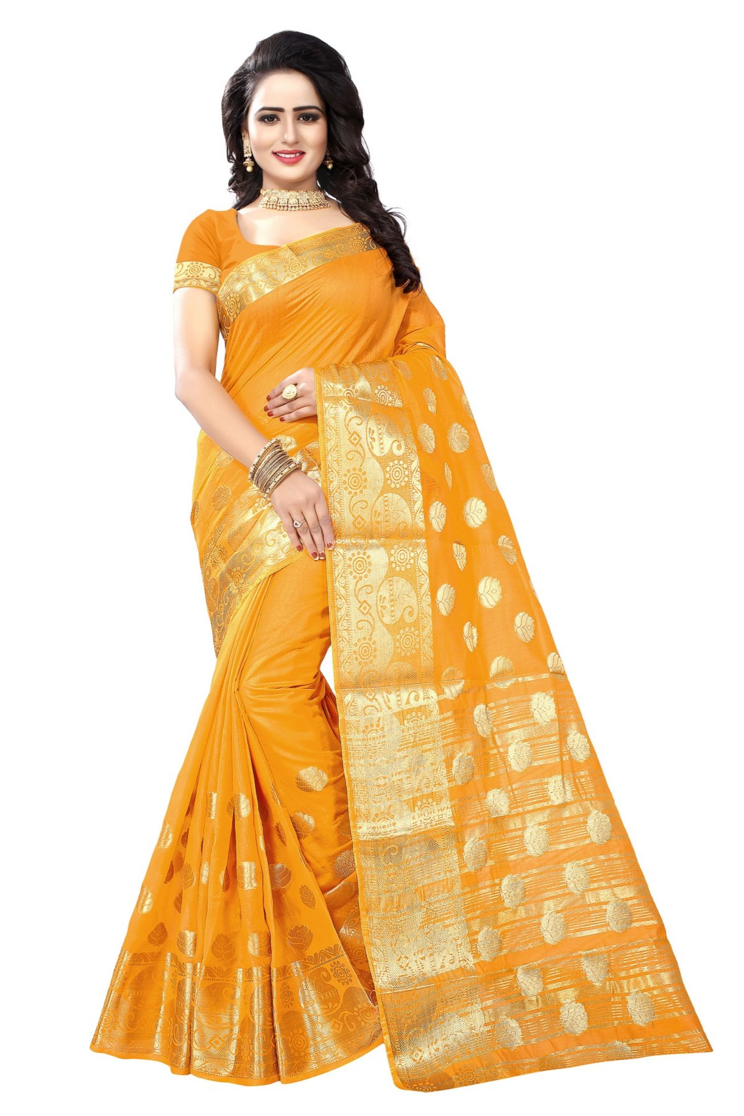 633b60ef38 Yellow Sarees - Buy Yellow Color Saree online @ Best Prices