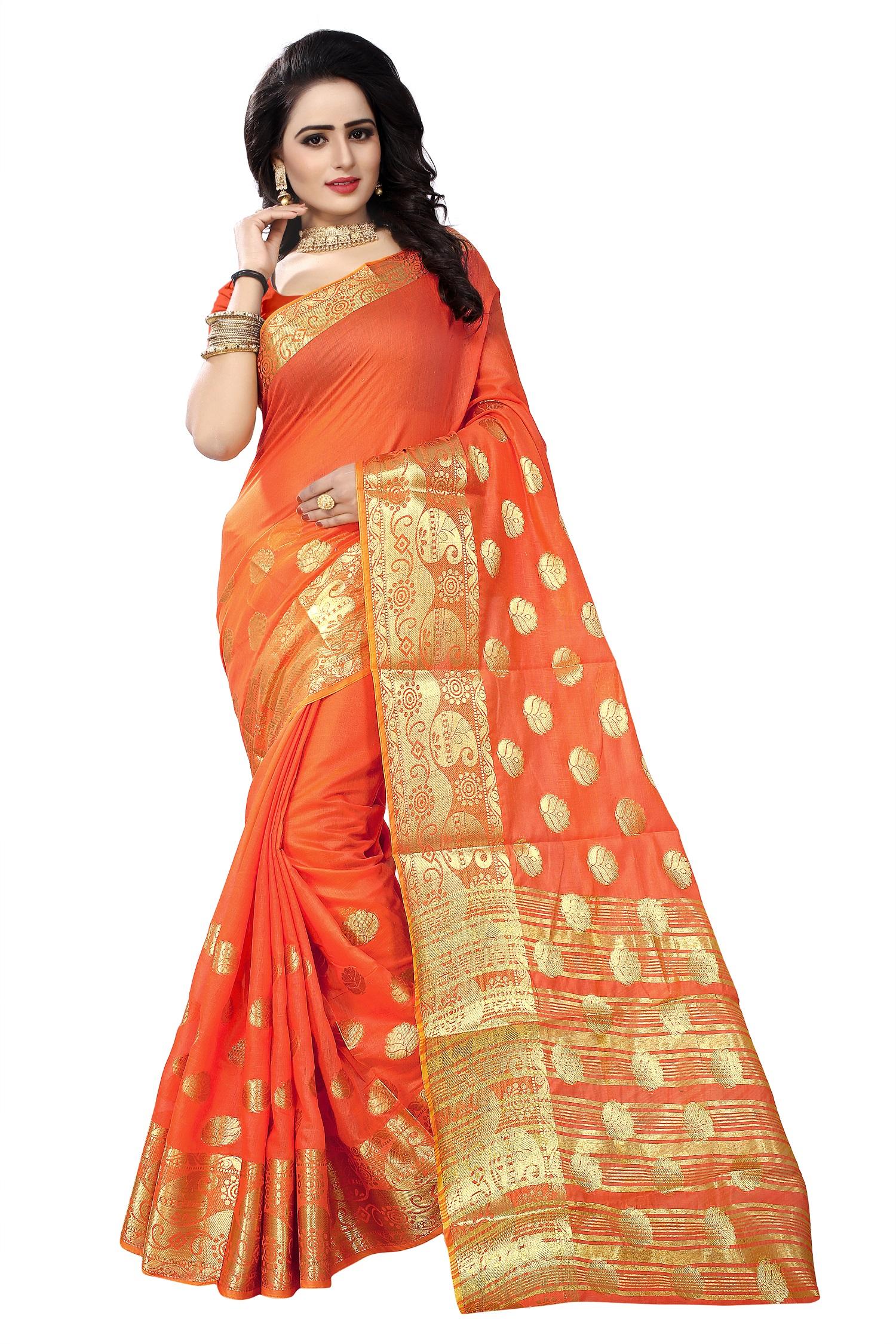 0e000d6a26 Orange Color Sarees - Buy Orange Saree Online @ Best Prices