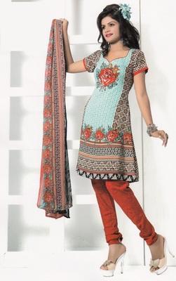 Crepe Dress Material Elegant Designer Unstitched Salwar Suit D.No 7269