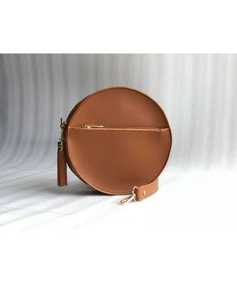 TAN  Circular Bag
