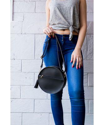 Black Circular Bag