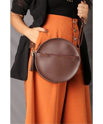 Brown Circular Bag