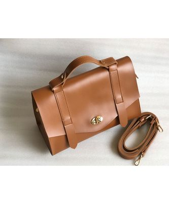 The Ofice Satchel - Tan