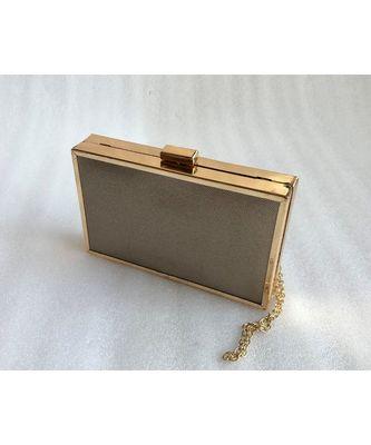 Golden   Casual Clutch