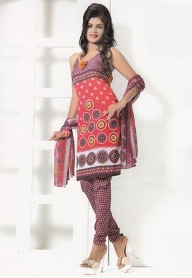 Crepe Dress Material Elegant Designer Unstitched Salwar Suit D.No 7272