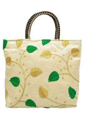 Shree Shyam Products Embroidered Ladies Green Bags