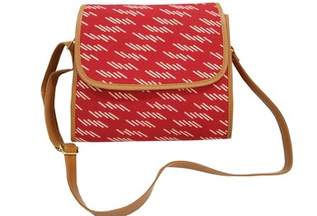 Shree Shyam Product Cotton Printed Red Sling Bag