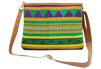 Shree Shyam Products Cotton Printed Purple Sling Bag
