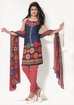 Crepe Dress Material Elegant Designer Unstitched Salwar Suit D.No 7274