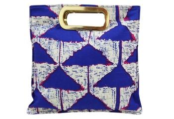 Shree Shyam Product Cotton Printed Blue Hand Bag