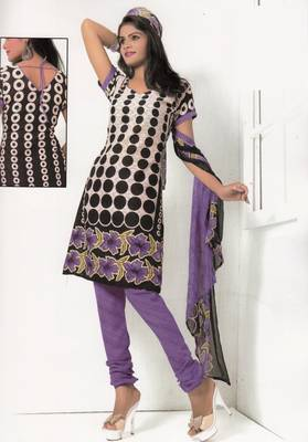 Crepe Dress Material Elegant Designer Unstitched Salwar Suit D.No 7276