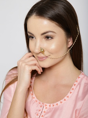 Gold nose-ring