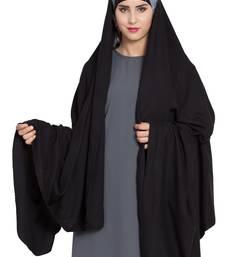 Rayon Black Irani Chadar Rida Hijab With Detachable Nose Piece