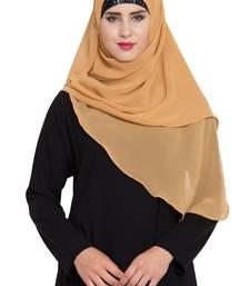 beige georgette ready to wear instant hijab