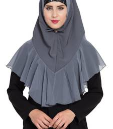 Grey Georgette Khimar Ready To Wear Instant Hijab