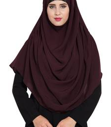 Wine Nida Khimar Ready To Wear Instant Hijab