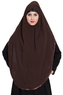 Brown Nida Khimar Ready To Wear Instant Hijab