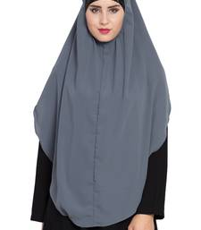 Grey nida khimar ready to wear instant hijab