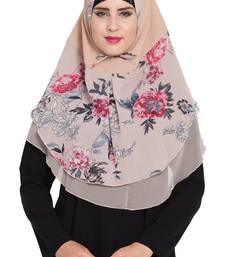 Beige Nida Khimar Ready To Wear Instant Hijab