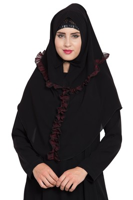 Black Nida Khimar Ready To Wear Instant Hijab