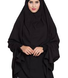 Black Rayon Khimar Ready To Wear Instant Hijab