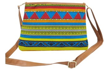 Shree Shyam Products Cotton Printed Red Sling Bag