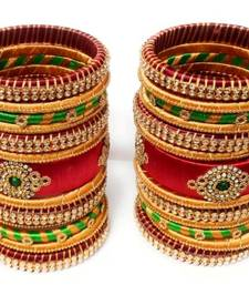 "Kepler Fashion Handicraft Silk Thread Bangle Set For Bridal ,Wedding And Festive Occasion ""Pack Of 26"""
