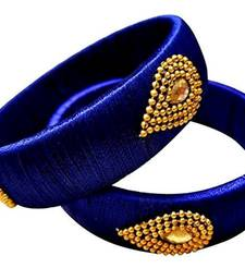 """Kepler Fashion Simple Silk Thread Bangle Set For Girls And Women """"Pack  Of 2"""""""