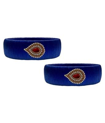 "Kepler Fashion  Colour Silk Thread Bangle Set For Girls And Women ""Pack  Of 2"""