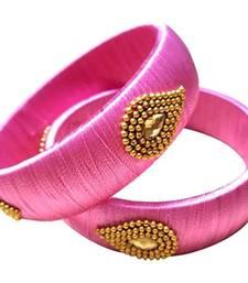 "Kepler Fashion Stylish Silk Thread Bangle For Girls And Women ""Pack Of 2"""