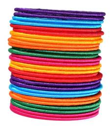 "multi colour silk thread bangle set for girls and women ""pack of 28"""