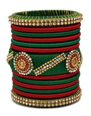 "Kepler Fashion Silk Thread Bagle Set For Girls And Women ""Pack Of 13Pcs"""