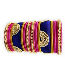 "Stylish And Elegant Silk Thread Bangle Set For Festival "" Pack Of 14"""