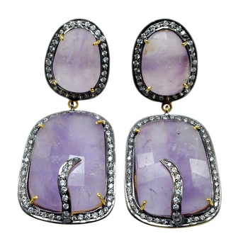 Multicolor Amethyst   Earrings